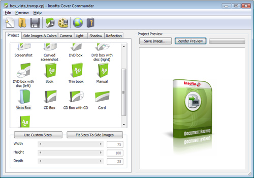 Click to view Insofta Cover Commander 3.1.3 screenshot