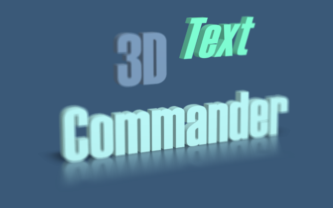 3D Text Commander: sample 5