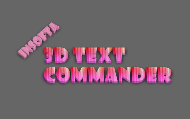 3D Text Commander - Static/animated 3D text maker - Design