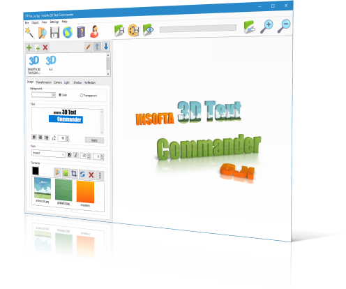 3D text maker: 3D Text Commander