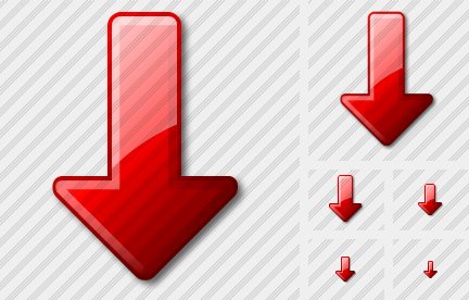 Arrow Down Red Icon
