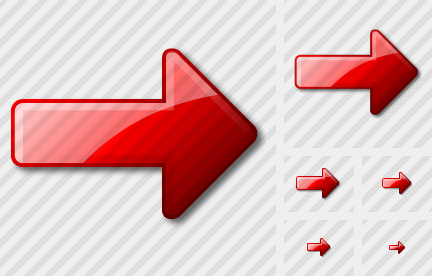 Arrow Right Red Icon