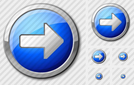 Arrow 2 Right Blue Icon