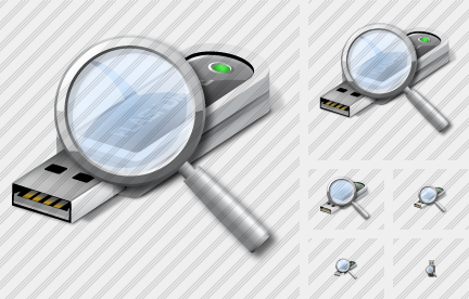 Flashdrive Search Icon