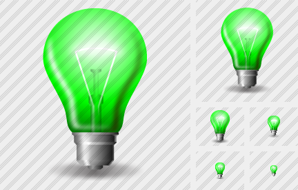 Lamp Green Icon