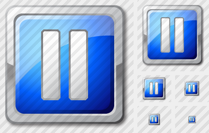 Media Pause Blue Icon