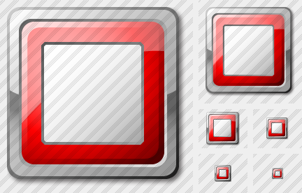 Media Stop Red Icon
