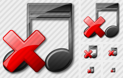Music Delete Icon