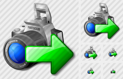 Photocamera Export Icon