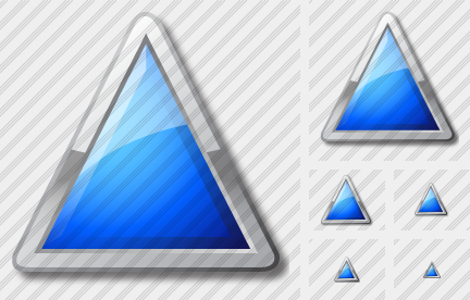 Triangle Blue Icon