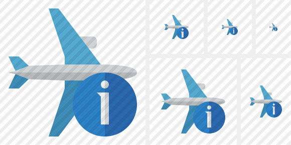 Airplane Horizontal Information Symbol