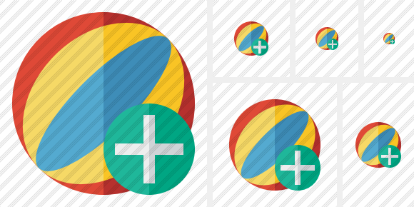 Beach Ball Add Icon