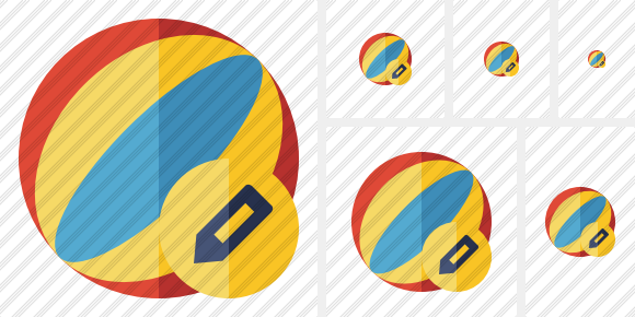 Beach Ball Edit Symbol