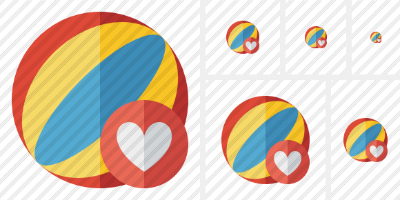 Beach Ball Favorites Icon