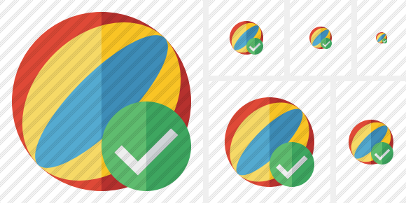 Beach Ball Ok Symbol