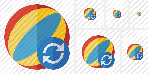 Beach Ball Refresh Symbol
