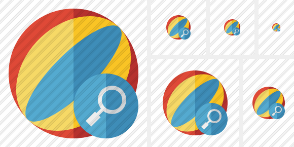 Beach Ball Search Icon