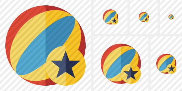 Beach Ball Star Symbol