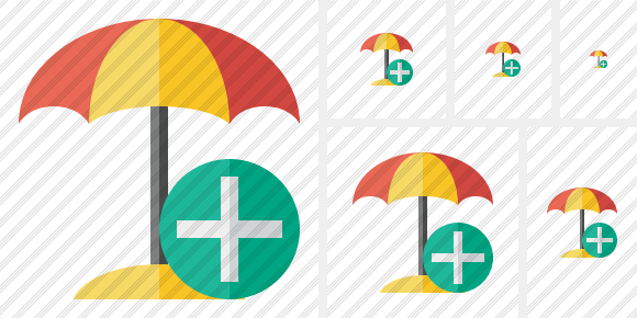 Beach Umbrella Add Symbol