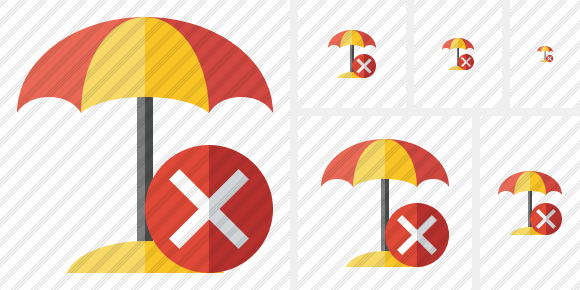 Icône Beach Umbrella Cancel