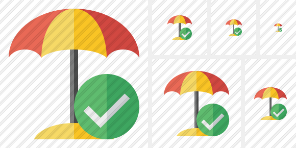 Beach Umbrella Ok Icon