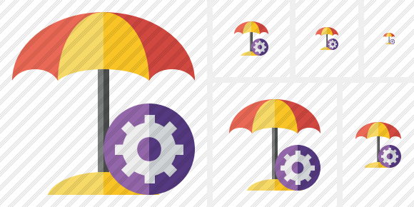 Beach Umbrella Settings Icon