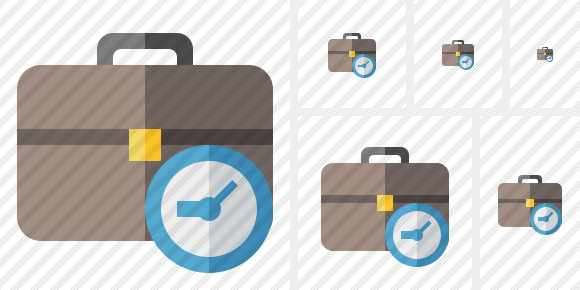 Briefcase Clock Icon