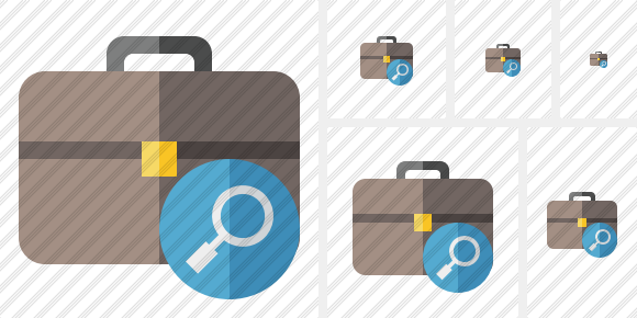 Briefcase Search Icon