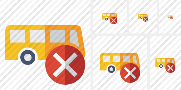 Bus Cancel Icon