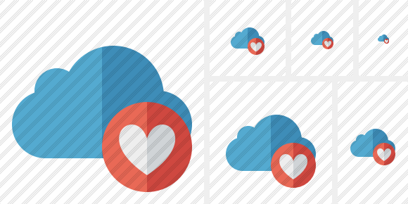 Cloud Blue Favorites Icon