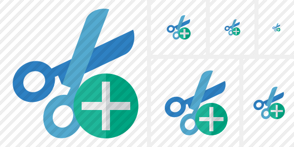 Cut Add Icon