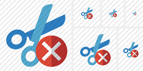 Cut Cancel Icon