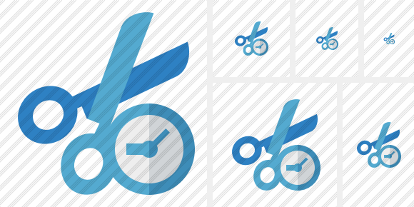 Cut Clock Icon