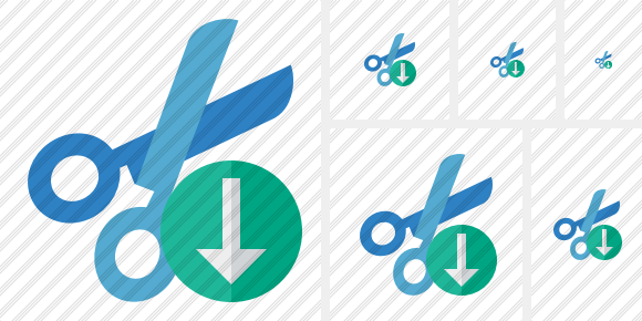 Cut Download Icon