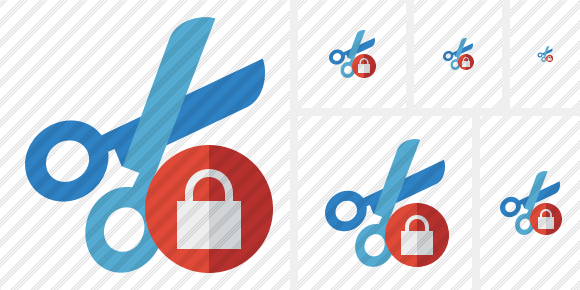 Cut Lock Icon