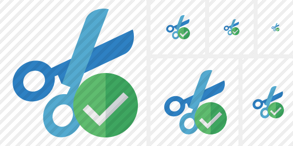 Cut Ok Icon