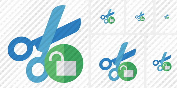 Cut Unlock Icon