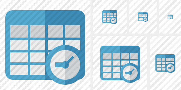 Database Table Clock Icon