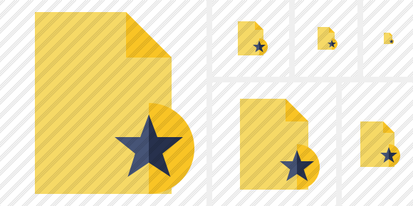 Document Blank 2 Star Icon