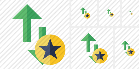 Exchange Vertical Star Icon