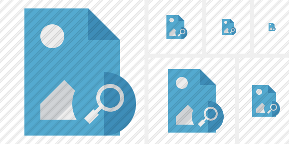 File Image Search Symbol