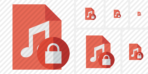 File Music Lock Icon