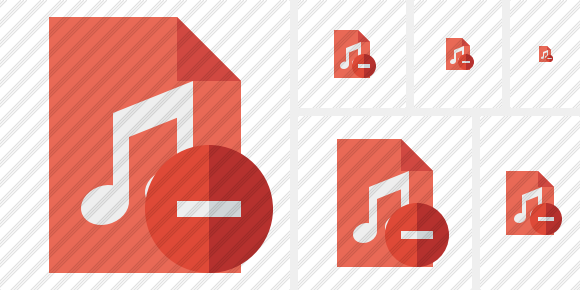 File Music Stop Icon