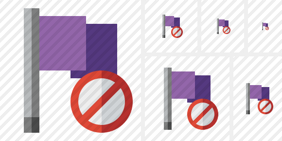 Flag Purple Block Icon