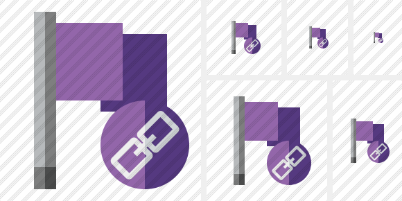 Flag Purple Link Symbol