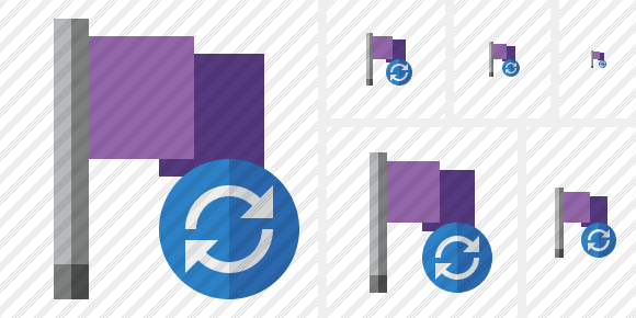 Flag Purple Refresh Icon