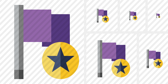 Flag Purple Star Symbol