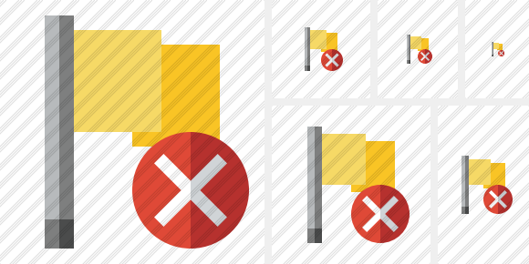 Flag Yellow Cancel Symbol
