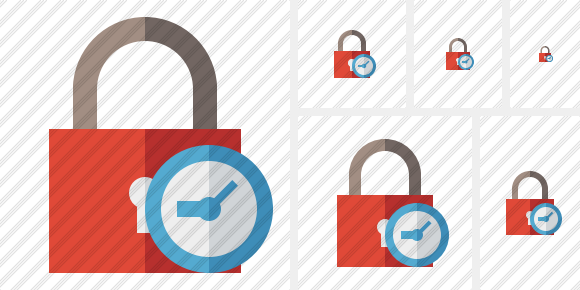 Lock Clock Icon