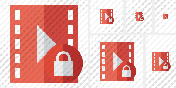 Movie Lock Symbol
